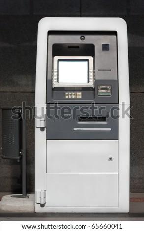 ATM - cash machine - stock photo
