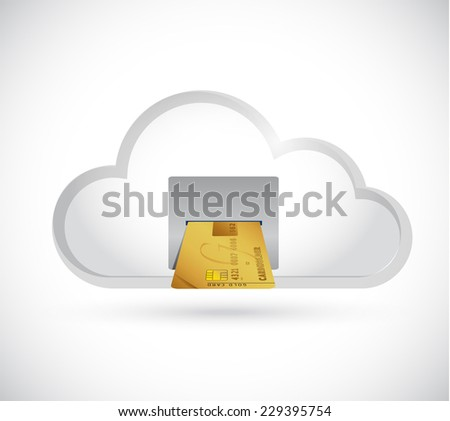 atm credit card illustration design over a white background - stock photo