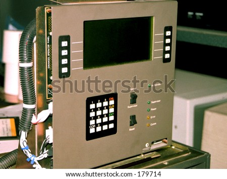 ATM diagnostics control panel. Used by technician/engineer for fault finding purpouses.