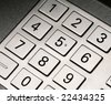 atm keypad - stock photo