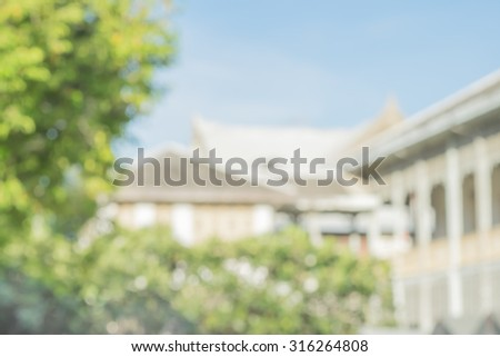atmosphere around church blur background with bokeh - stock photo