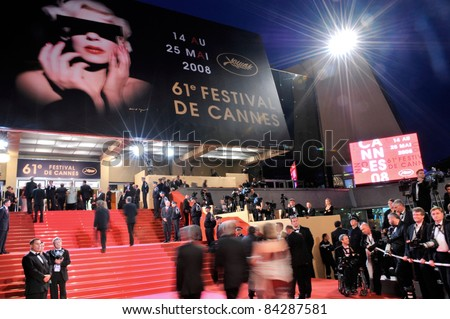 Atmosphere at the Palais de Festivals at the 61st Annual International Film Festival de Cannes. May 19, 2008  Cannes, France. Picture: Paul Smith / Featureflash - stock photo