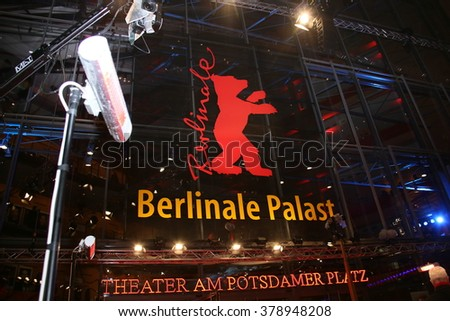 Atmosphere attends the 'Things to Come' (L'avenir) premiere during the 66th Berlinale International Film Festival Berlin at Berlinale Palace on February 13, 2016 in Berlin, Germany. - stock photo