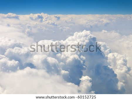 atmosphere -  sky and clouds background - stock photo
