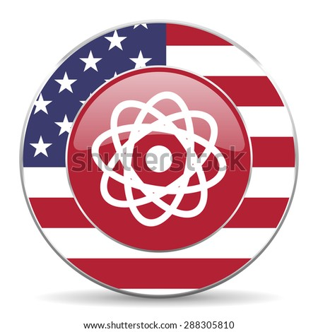 atom american icon original modern design for web and mobile app on white background  - stock photo