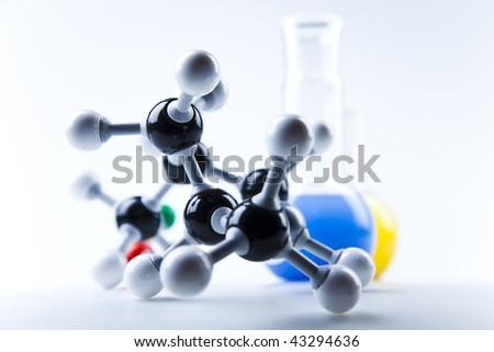 Atom design - stock photo