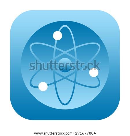 Atom icon - stock photo