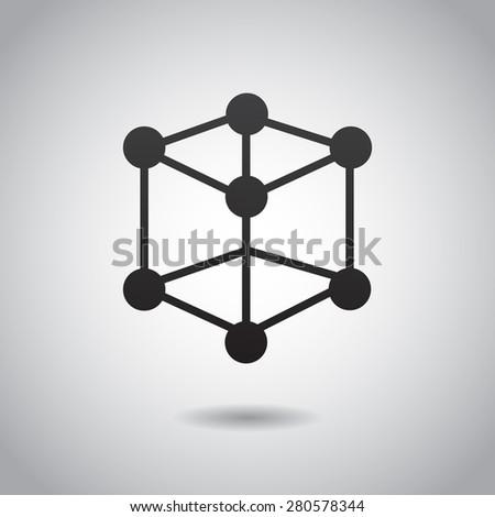 Atom icon isolated on white background.  - stock photo
