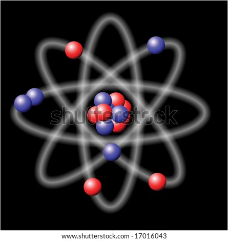 Atom - illustration on black background