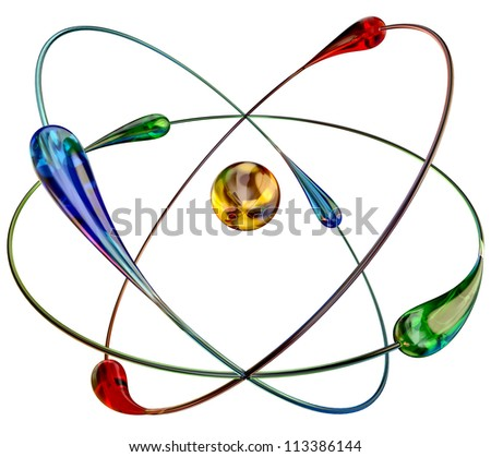 atom in cold fusion nuclear reactions at room temperature is a cheap and abundant source of energy. 3d model - stock photo