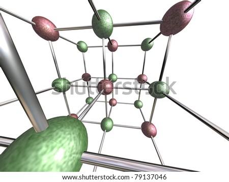 Atom molecule - stock photo