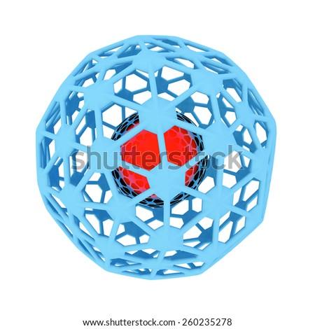 Atomic nucleus - 3d rendered illustration - stock photo