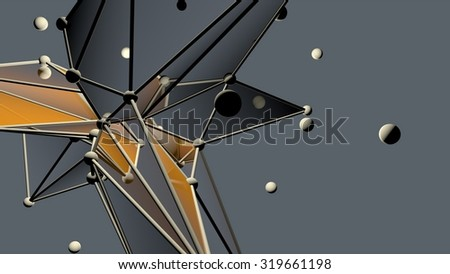 Atomic structure -tech background - stock photo