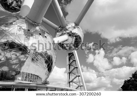 atomium monumemt in Brussels - stock photo