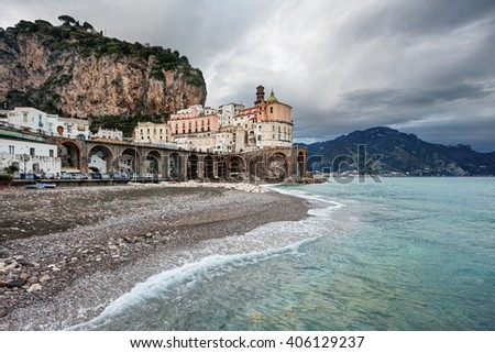 Atrani is a very small fishing village along the famous Amalfi Coast (Costiera Amalfitana), in south Italy.