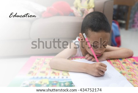 Attention Deficit Hyperactivity Disorder,ADHD child acrivity the - stock photo