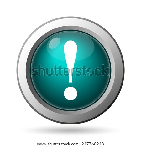 Attention icon. Internet button on white background.