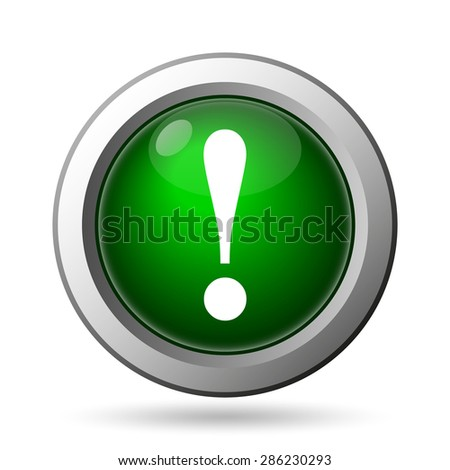 Attention icon. Internet button on white background