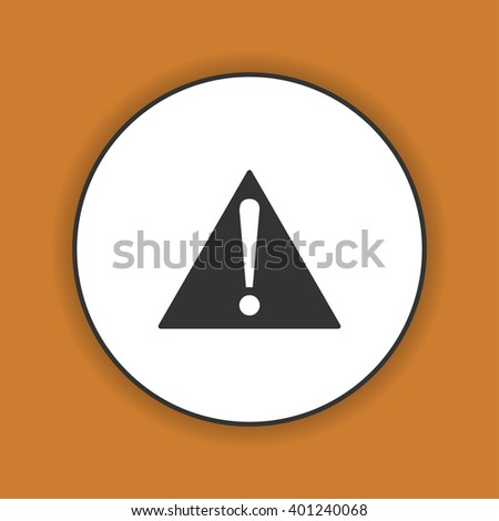 attention sign with exclamation mark icon. - stock photo
