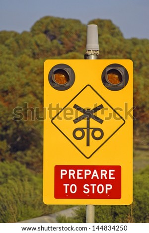 Attention with the trains - stock photo