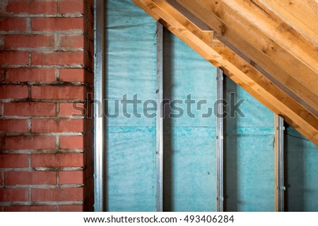 Loft insulation stock images royalty free images vectors shutterstock - Attic thermal insulation ...
