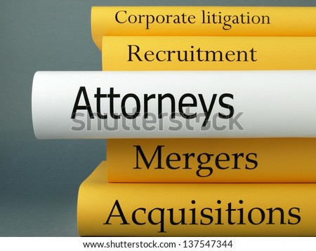 Attorneys (book titles) - stock photo