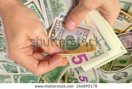 Attraction of investments and investors for various projects. - stock photo