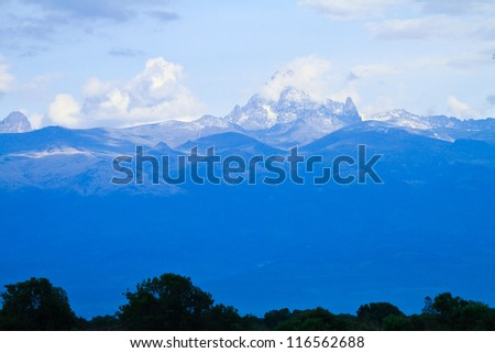 attraction of kilimanjaro mountain in Kenya. landscape for background. - stock photo