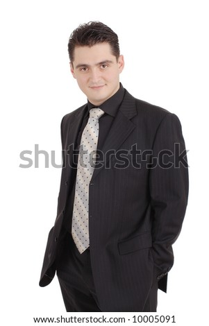 Attractive adult in a suit - stock photo