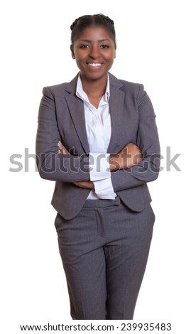 Attractive african businesswoman with crossed arms