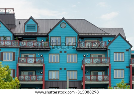 Attractive apartment / condominium building - stock photo