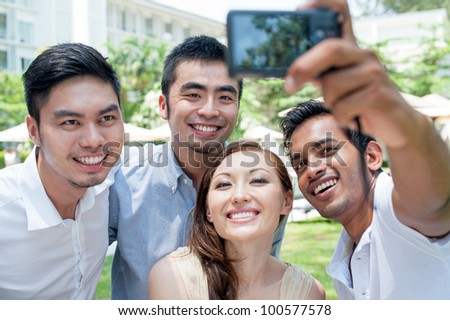Attractive Asian Friends Lifestyle - stock photo