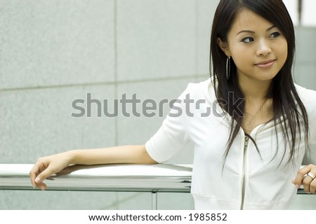 attractive asian woman - stock photo