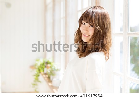 attractive asian woman beauty image - stock photo