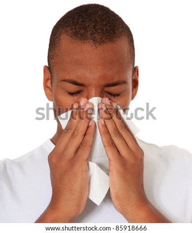 Attractive black using tissue. All on white background. - stock photo