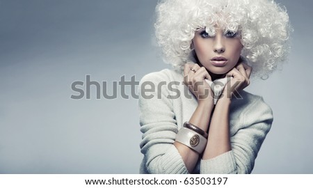 Attractive blond beauty - stock photo