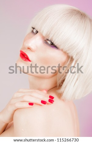 Attractive blond girl - stock photo