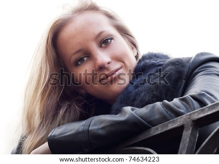 Attractive blonde girl - stock photo