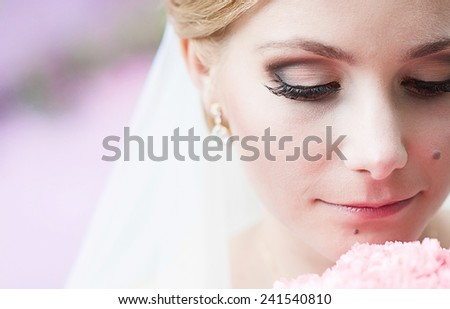 Attractive bride - stock photo
