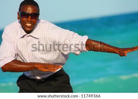 Attractive businessman - stock photo