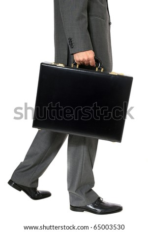 Attractive businessman. All on white background. - stock photo