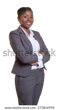 Attractive businesswoman from Africa with crossed arms