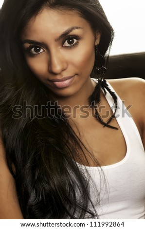 Attractive casual young woman - stock photo