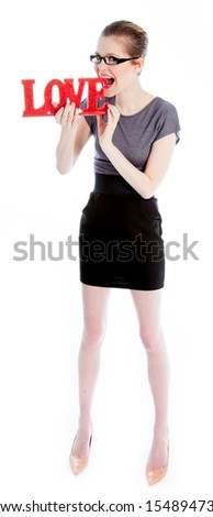 Attractive caucasian business woman in her 30 isolated on a white background