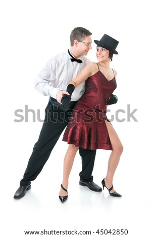 Attractive couple dancing
