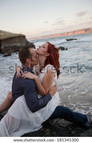 Attractive Couple Outdoors - stock photo