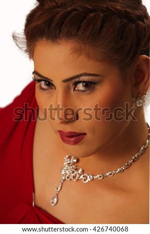 Attractive female fashion model posing for the camera - stock photo