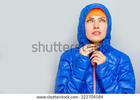 attractive fitness woman, lifestyle portrait, caucasian model - stock photo