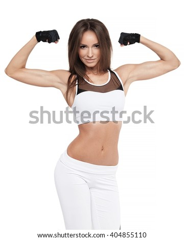 Attractive Fitness Young Woman Posing. Sports Healthy Lifestyle. Beautiful Athletic Model - stock photo