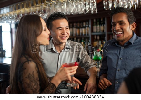 Attractive Friends at a bar
